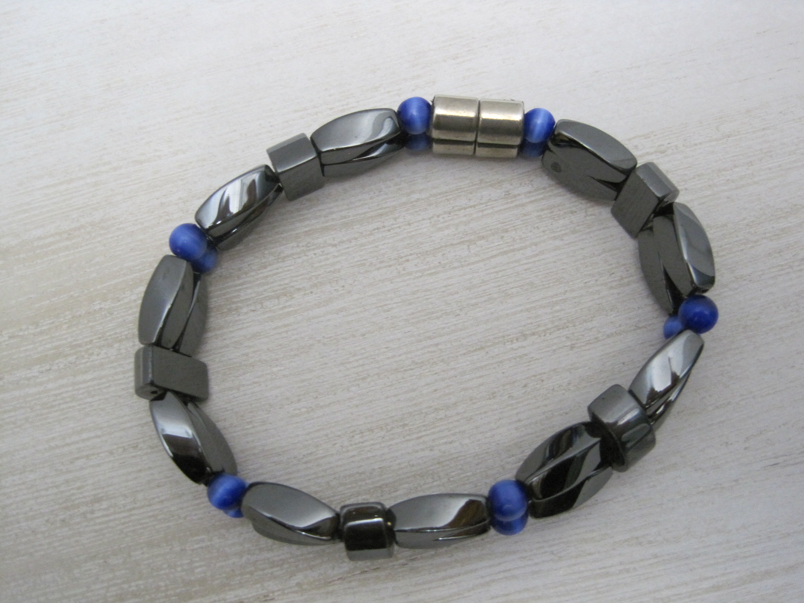 product jewellery two crystalry bracelet hematite tone jewelry